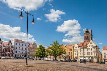 Historischer Marktplatz in der Altstadt von Wismar von Christian Müringer