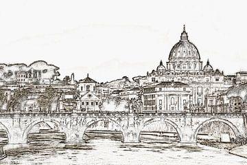 Rome, Italië van Gunter Kirsch