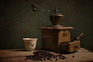 Kopje koffie, stilleven. van