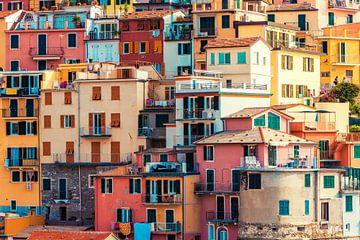 Gekleurde huizen in Manarola van Tijmen Hobbel