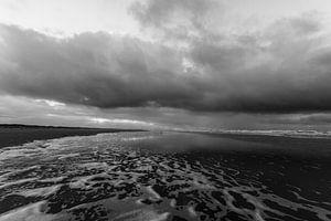 Zwart en Wit strand van