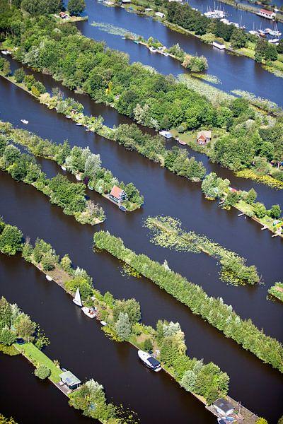 Photo aérienne des maisons de vacances près de Breukelen sur Frans Lemmens