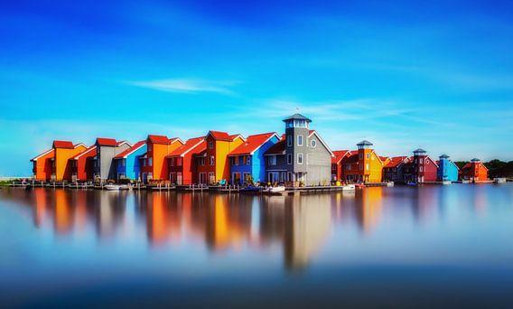 Gekleurde huisjes van Maikel Brands