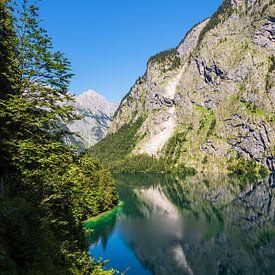 Vue du lac Obersee dans la région de Berchtesgadener Land, en Bavière. sur Rico Ködder