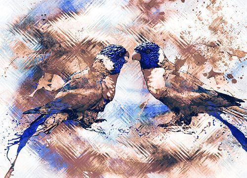 Abstract lori birds