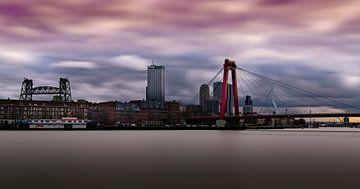 Rotterdam, Ersmusbrug, Willemsbrug en De Hef sur Robbert Ladan