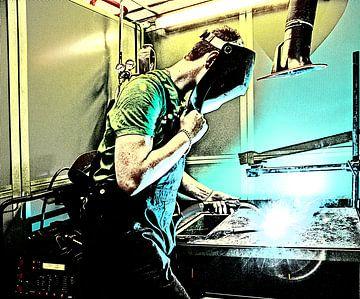 Mann beim Schweißen von Herman IJssel BWPHOTO