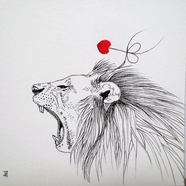 HeartFlow Leeuw van Helma van der Zwan