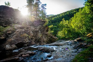 Auf dem Gipfel eines Wasserfalls in Norwegen von Ellis Peeters