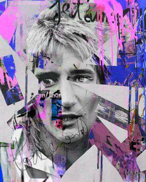 Rod Stewart Plakative Collage  van Felix von Altersheim