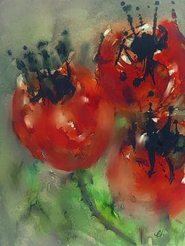 Rode vruchten van Christine Nöhmeier