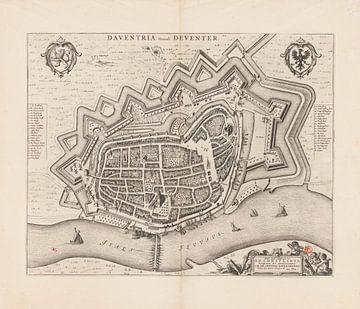 Karte von Deventer von 1652