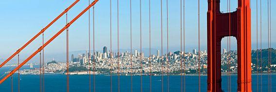 Golden Gate Bridge Panoramic van Melanie Viola