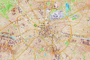 Kleurrijke kaart van Eindhoven van