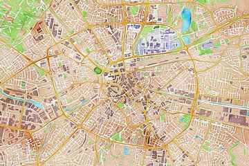 Kleurrijke kaart van Eindhoven van Stef Verdonk