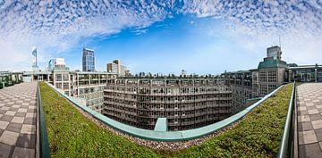Panorama daktuin Groothandelsgebouw Rotterdam van Victor van Dijk