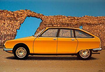 Citroen GS 1970 Gemälde von Paul Meijering
