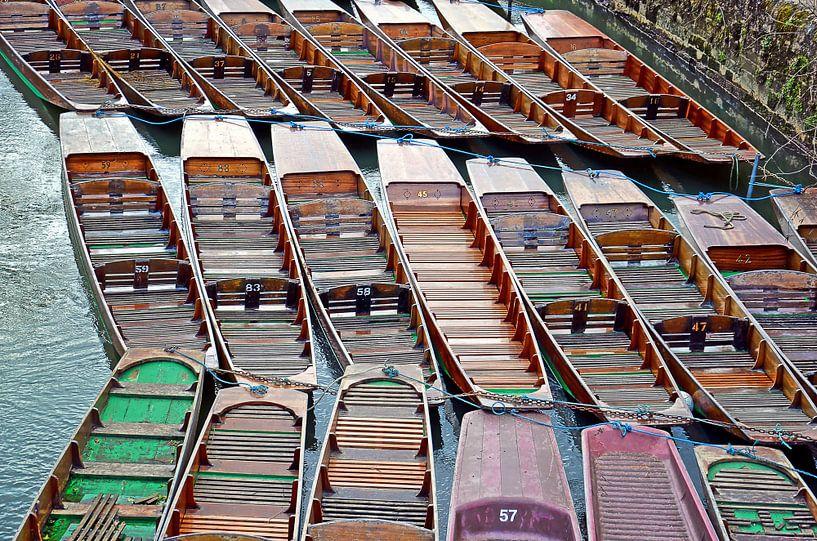 Boote in Oxford, England von Frans Blok