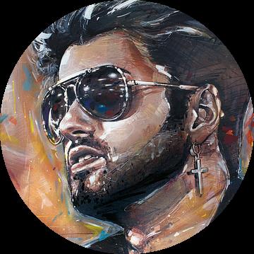 George Michael schilderij van Jos Hoppenbrouwers