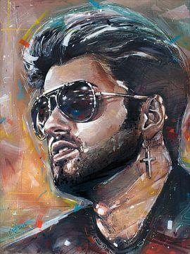 George Michael schilderij van