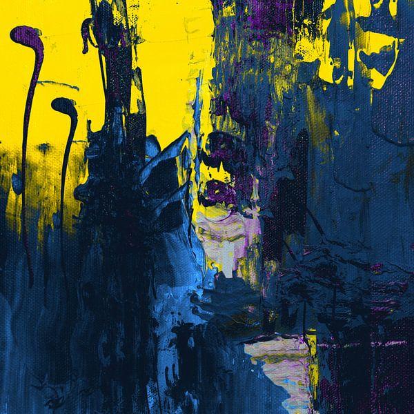 Abstract spel - Geel - 0100 van Felix von Altersheim