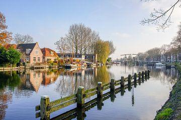 Zicht op de Vecht in Weesp van Dirk van Egmond