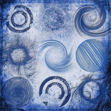 Variationen über einen Kreis, blau von Rietje Bulthuis