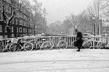 Amsterdam Winter Schnee von Marianna Pobedimova