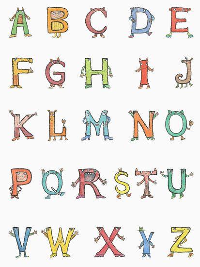 Fröhliche Buchstaben - ABC