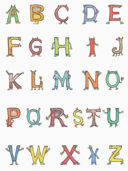 Fröhliche Buchstaben - ABC von Atelier BuntePunkt