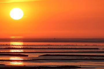 Zonsondergang waddenzee van Arjan Dijksterhuis