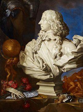 Allegorisches Stillleben mit Berninis Büste von Franz I. d'Este, Francesco Stringa