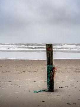 Strandpfosten auf Texel von Steven Goovaerts