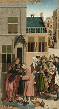 Die sieben Werke der Barmherzigkeit (Teil 3), Meister von Alkmaar