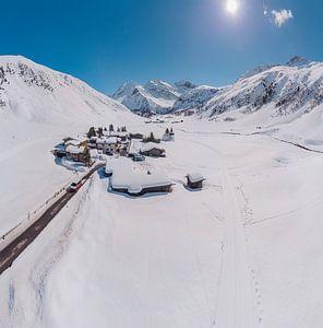 Het Sertigtal, Sertig Sand, Davos, Graubünden, Zwitserland