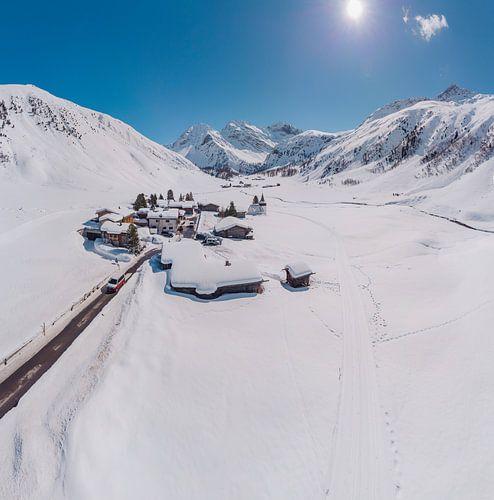 Het Sertigtal, Sertig Sand, Davos, Graubünden, Zwitserland van