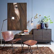 Photo de nos clients: Belles taches de rousseur sur Elianne van Turennout, sur alu-dibond