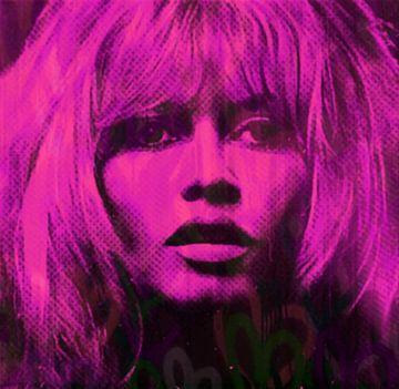 Motiv Brigitte Bardot Pink Love Pop Art PUR van