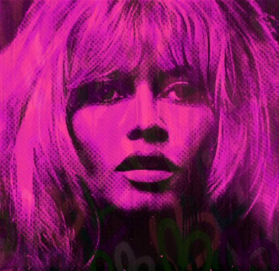 Brigitte Bardot Pink Love Pop Art PUR van Felix von Altersheim