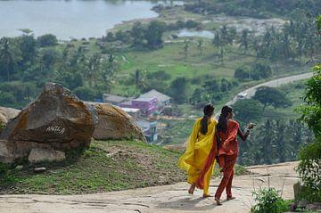 Wandeling in Shravanabelagola van Jeroen van Gent