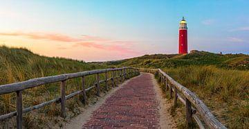 Phare Texel au coucher du soleil. sur Justin Sinner Pictures ( Fotograaf op Texel)