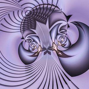 Phantasievolle abstrakte Twirl-Illustration 74/21