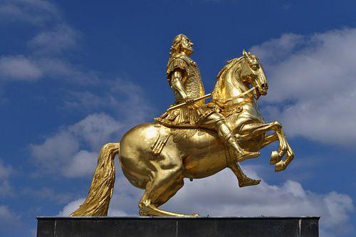 """Statue """"Goldener Reiter"""" in Dresden von Jörg Hausmann"""