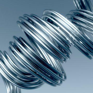 Metal Spaghetti blue van Jörg Hausmann