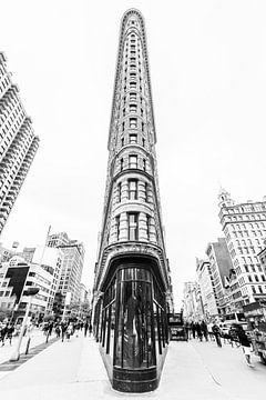 Flat Iron Building schwarz-weiß von Bert Nijholt