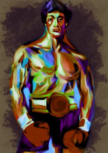 Rocky Balboa Pop Art Pur Serie