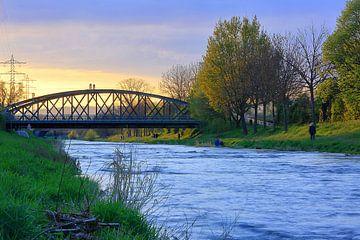 Dreisam rivier Freiburg van Patrick Lohmüller