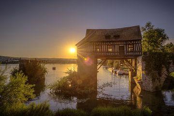 Zonsondergang aan een pittoreske oude molen van kim Bolle- Van Ham