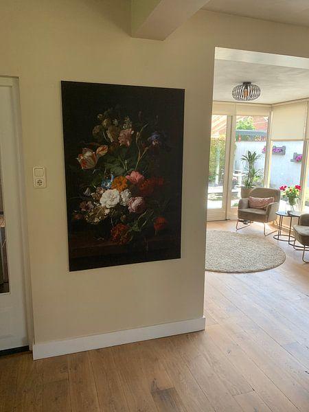 Photo de nos clients: Vase avec des fleurs, Rachel Ruysch (vue à vtwonen)