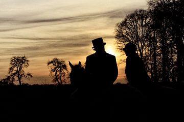 Slipjacht zonsondergang von Wybrich Warns